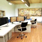 オフィス内観パース(3DCG)