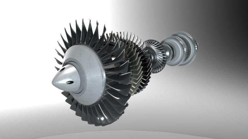 ジェットエンジン軸