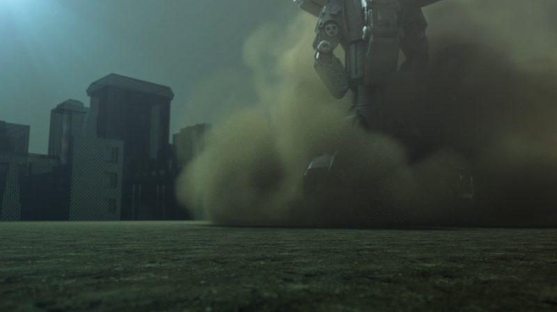 流体を使用した土煙エフェクト