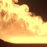 炎の燃え上がる素材