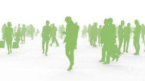 人々、群衆イメージ緑